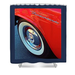 Classic T-bird Tire Shower Curtain