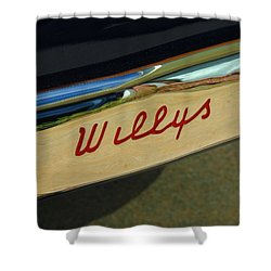 Classic Willys Jeep Shower Curtain