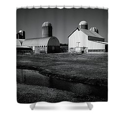 Classic Wisconsin Farm Shower Curtain