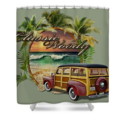 Classic Woody Shower Curtain
