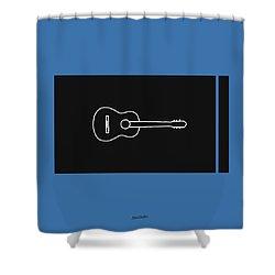 Classical Guitar In Blue Shower Curtain by David Bridburg