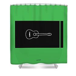 Classical Guitar In Green Shower Curtain