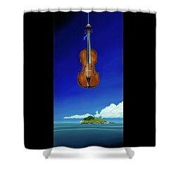 Classical Seascape Shower Curtain