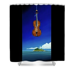 Shower Curtain featuring the painting Classical Seascape by Paxton Mobley