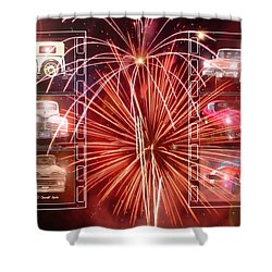 Classics Ablaze Shower Curtain by David and Lynn Keller