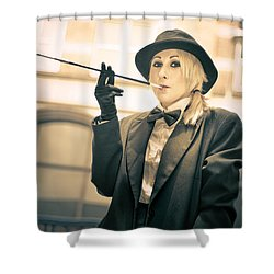 Classy Rich Woman Shower Curtain by Jorgo Photography - Wall Art Gallery