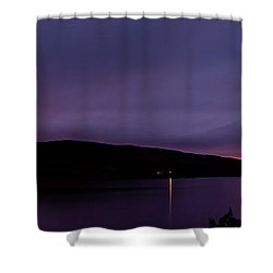 Clatteringshaws After Sunset. Shower Curtain