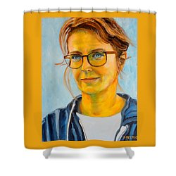 Claudia-portrait Shower Curtain