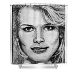 Claudia Schiffer In 1992 Shower Curtain by J McCombie