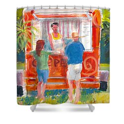Claudine's Crepes Shower Curtain