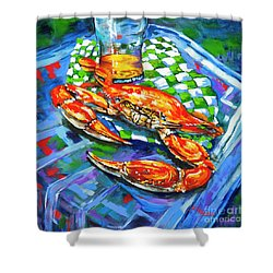 Claw Daddy Shower Curtain by Dianne Parks