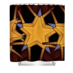 Clawed Stars  Shower Curtain by Ron Bissett