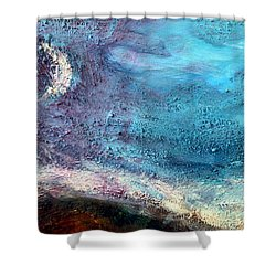Clay Moon Shower Curtain