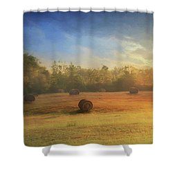 Shower Curtain featuring the photograph Clayton Morning Mist by Lori Deiter