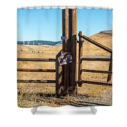 Clean Power And Old Ranch Gates Shower Curtain