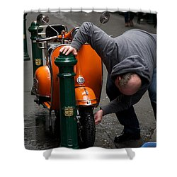 Clean Vespa Shower Curtain