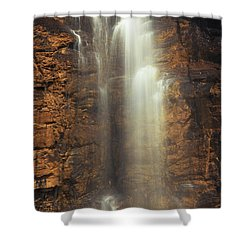 Cleansed From Above Shower Curtain