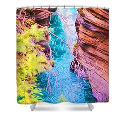 Clear Alpine Water Shower Curtain