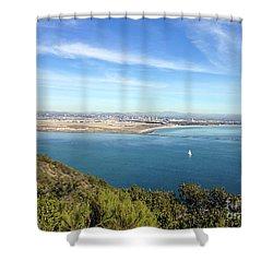 Clear Blue Sea Shower Curtain