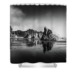 Clear Day At Ruby Beach Shower Curtain