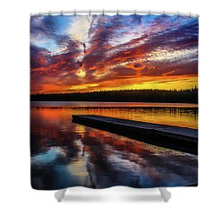 Clear Lake At Sunset. Riding Mountain National Park, Manitoba, Canada. Shower Curtain