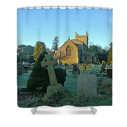 Clear Light In The Graveyard Shower Curtain by Anne Kotan