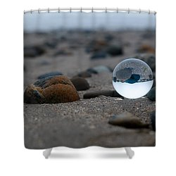 Shower Curtain featuring the photograph Clear Rock by Lora Lee Chapman