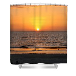 Clear Sunset Shower Curtain