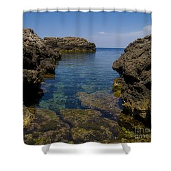 Clear Water Of Mallorca Shower Curtain by Anastasy Yarmolovich