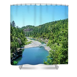 Clear Waters Shower Curtain by Ric Schafer