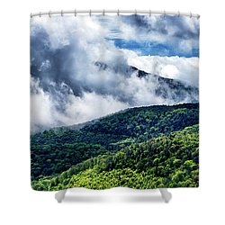 Shower Curtain featuring the photograph Clearing Storm Highland Scenic Highway by Thomas R Fletcher