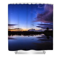 Clearing Storm Over The Anhinga Trail Shower Curtain by Jonathan Gewirtz