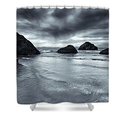 Clearing Storm Shower Curtain by Mike  Dawson