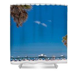 Clearwater Beach Shower Curtain by Adam Romanowicz