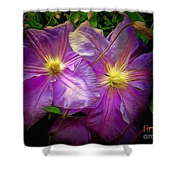 Clematis Azure Pearl Shower Curtain