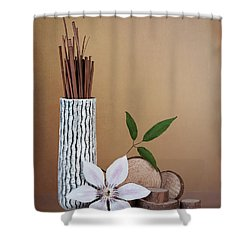 Clematis Flower Still Life Shower Curtain
