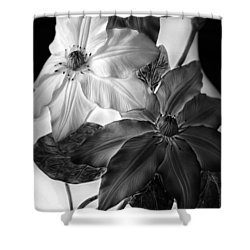 Clematis Overlay Shower Curtain by Jessica Jenney