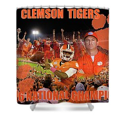 Clemson National Champs Shower Curtain