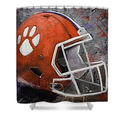 Clemson Tigers Football Helmet Original Painting Shower Curtain
