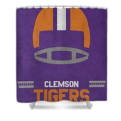 Lovely Clemson Tigers Vintage Football Art Shower Curtain