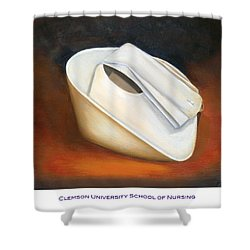 Shower Curtain featuring the painting Clemson University School Of Nursing by Marlyn Boyd