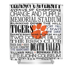 Clemson University Subway Art Shower Curtain