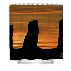 Clent Hills Sunset Shower Curtain