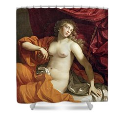 Cleopatra Shower Curtain by Benedetto the Younger Gennari
