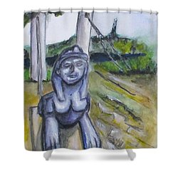 Cleopatra Bridge Ruins, Gaeta Italy Shower Curtain by Clyde J Kell