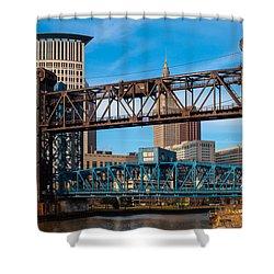 Cleveland City Of Bridges Shower Curtain