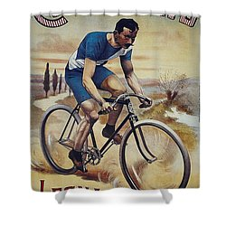 Cleveland Lesna Cleveland Gagnant Bordeaux Paris 1901 Vintage Cycle Poster Shower Curtain