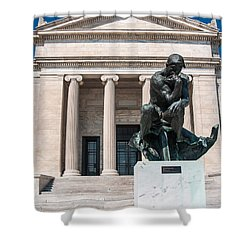 Cleveland Museum Of Art, The Thinker Shower Curtain