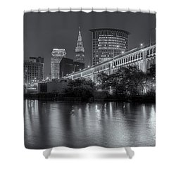 Cleveland Night Skyline IIi Shower Curtain