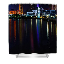 Cleveland Nightly Reflections Shower Curtain